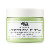 Origins A Perfect World™ SPF 40 Age-defense moisturizer with White Tea  (Sejas krēms ar SPF 40)
