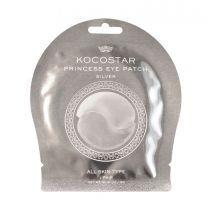 Kocostar Princess Eye Patch Silver 1 Pair  (Izlīdzinoša un mitrinoša hidrogēla maska acu zonai)