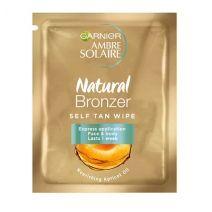 Garnier Ambre Solaire Natural Bronzer Self Tan Face Wipes  (Paštonējošās salvetes sejai)