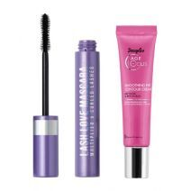 Douglas Focus Age Smoothing Eye Contour Cream + Lash Love Mascara  (Komplekts acu un skropstu kopšan