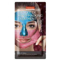Purederm Galaxy 2x Multi-Masking Treatment Blue & Pink  (Atjaunojoša sejas maska)