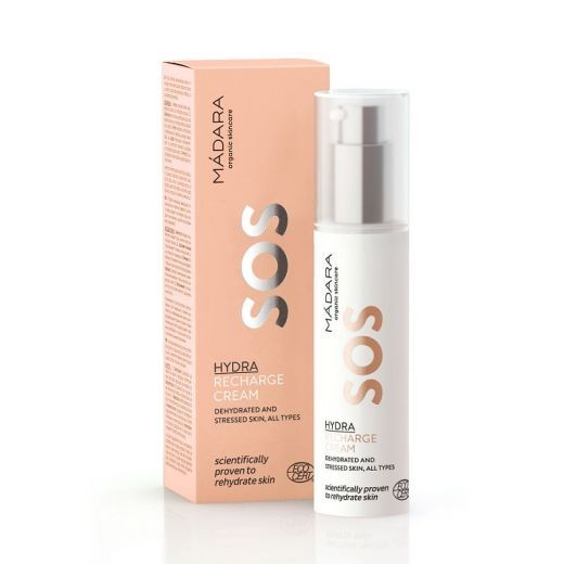 Madara SOS Hydra Recharge Cream  (Intensīvi mitrinošs sejas krēms)