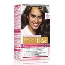 L'Oreal Paris Excellence Hair Color 2 Very Dark Brown  (Matu krāsa)