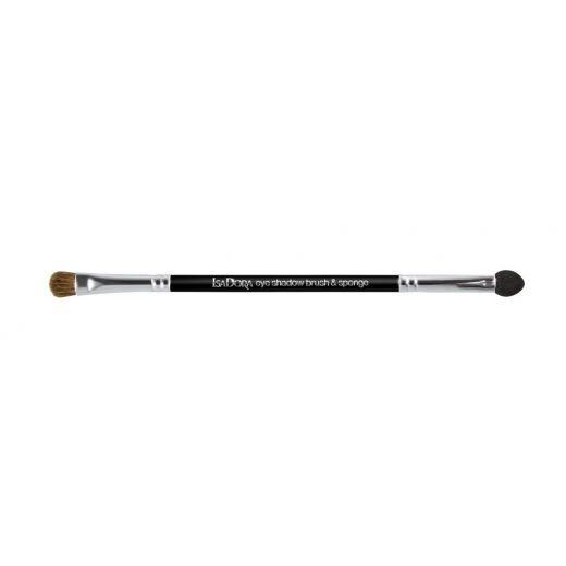 IsaDora Double Ended Eye Shadow Applicator brush & Sponge  (Divpusējā acu ēnu ota)