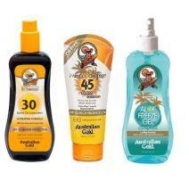 Sunscreen Spray Oil SPF 30 + Premium Coverage SPF 45 Faces Sunscreen + Aloe Freeze Spray Gel  (Saule