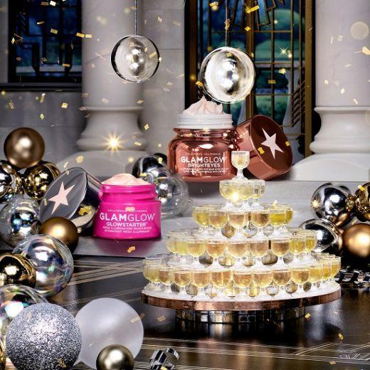 GlamGlow Turn Up The Brightness Duo Holiday Set  (Sejas kopšanas komplekts)