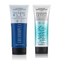Charles Worthington Colourplex Toning Blue Shampoo + Everyday Conditioner  (Matu kopšanas komplekts)