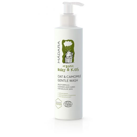 MADARA Oat & Camomile Gentle Wash 200 ml  (Auzu un kumelīšu maigas ziepes bērniem)