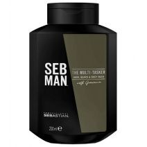 Sebastian Professional Seb Man The Multi -Tasker Hair, Beard & Body Wash Gel  (Šampūns matiem, b