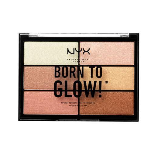 NYX Professional Makeup Born To Glow Highlighting Palette  (Izgaismojoša palete)