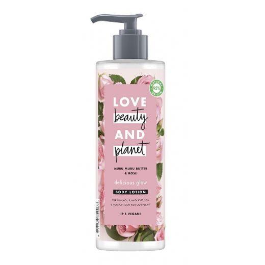 Love Beauty and Planet Muru Muru Butter & Rose Body Lotion  (Mirdzošs ķermeņa losjons)