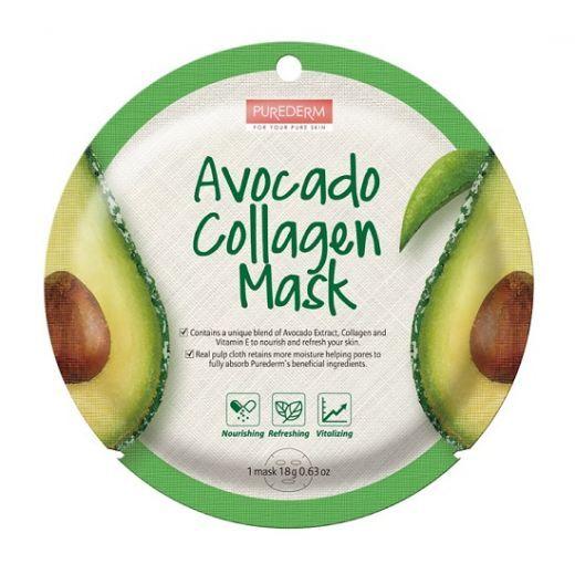 Purederma Avocado Collagen Mask  (Avokado kolagēna maska)