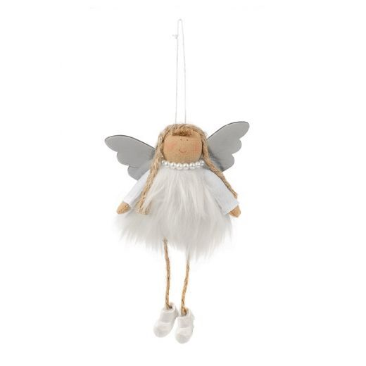 Douglas Trend Collections Classy Winter Angel Plush White  (Svētku dekors)
